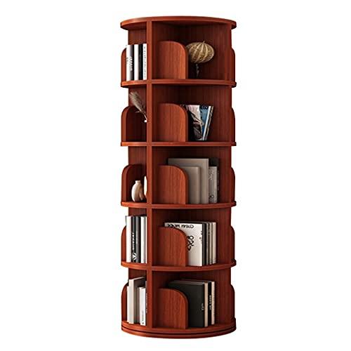 Librerie Girevole A 360 Studenti Salvaspazio Mobile Contenitore Multistrato Angolare Soggiorno (Color : Red, Size : 46 * 162.5cm)