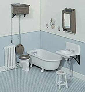 Chrysnbon人形の家ビクトリア朝の浴室用家具キットモデルキットF-230