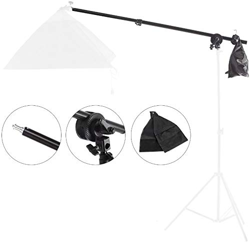 RangerRider Light Stand Boom Arm Photography Adjustable 29-55 inches with Grip Head and Sandbag for Photo Studio Softbox Lighting Stand