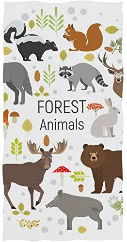 Serviette pour Le Visage Animal Forest Serviettes de Bain de Plage polyvalentes pour, Serviette de Bain pour Serviettes de Bain Spa de l'hôtel, Serviette de Bain Serviette de Toilette et Spa, serviet
