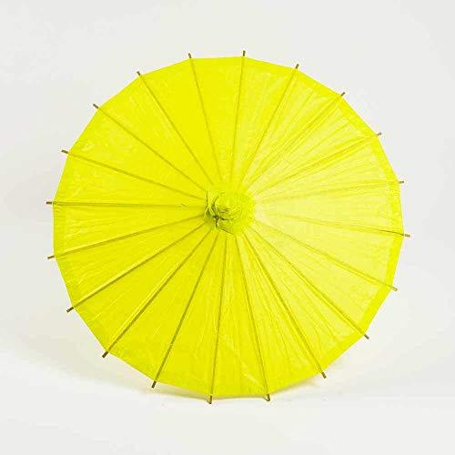 "Quasimoon PaperLanternStore.com 20"" Chartreuse Paper Parasol Umbrella"