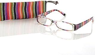 Look and see +3,5 dames designer leesbril M1 leeshulp flexibele beugel etui multicolor
