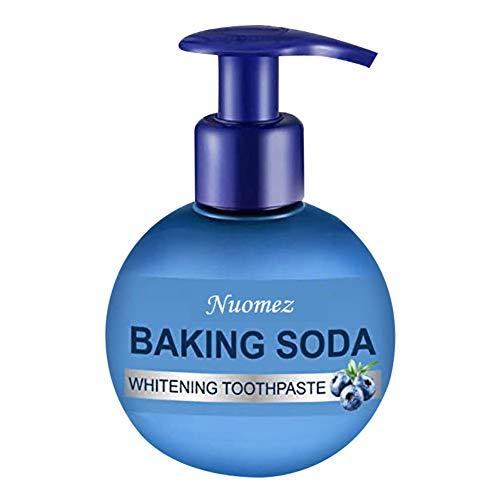 ColorfulLaVie Backpulver Zahnpasta, Zahnweiß Zahnpasta, Push Type Fleckenentfernung Zahnpasta, Anti-Blutungsgummi, Zahnverfall verhindern, natürliche Fleckenentfernung Reparatur Erfrischend