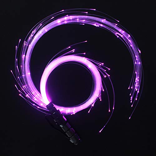 CHINLY LED Fiber Optic Whip Dance Space Whip Super Bright Light 40 Color Effect Mode 360° Swivel for Dancing, Parties, Light Shows, EDM Music Festivals