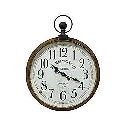Yosemite Home Decor Kensington Station Pocket Watch Style Wall Clock