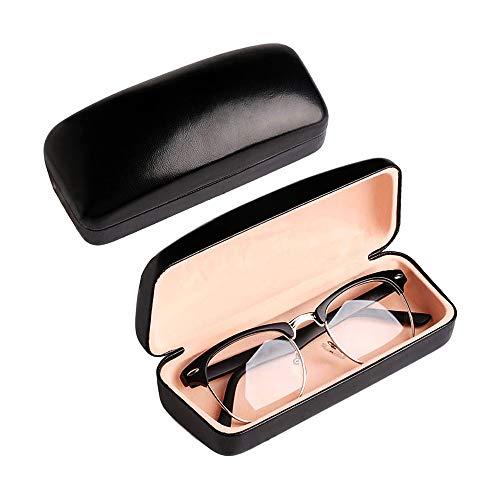 Large Eyeglass Case Hard Leather Sunglasses Portable Protective Case Box...
