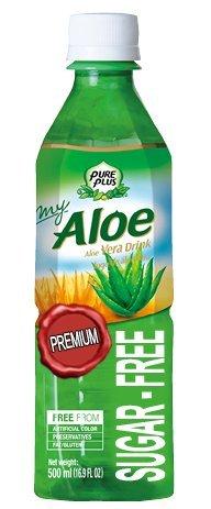 Pure Plus Bebida con pulpa de aloe en piezas sin azúcar sin conservantes colorantes 0% grasas Premium 500 ml x 20 unidades