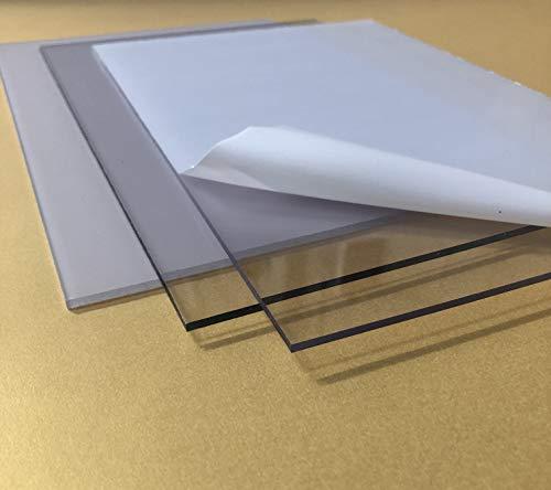Pannello plexy 3 mm - trasparente - policarbonato - dimensioni 20x30 cm