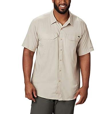 Columbia Men's Silver Ridge Lite Short Sleeve Shirt, Fossil, Medium
