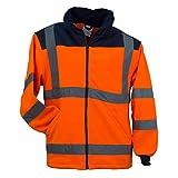 URG Fleece Warnjacke Winterjacke Warnschutzjacke Arbeitsjacke Orange (POL-HSV-OR) (L)