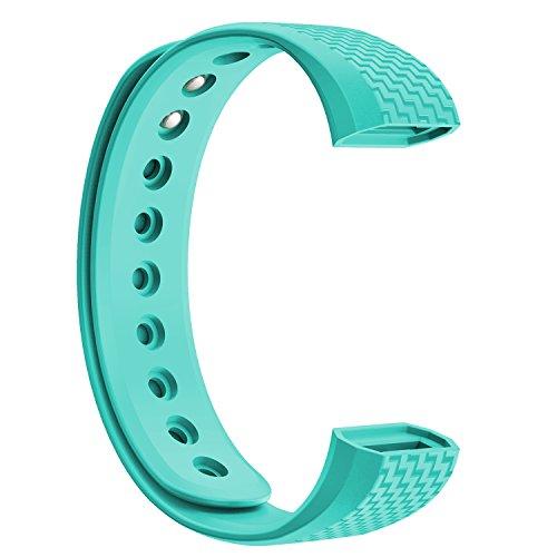 NINETEC Ersatz-Armband für Smartfit F3 & F3HR Fitnesstracker Wechsel Band Türkis