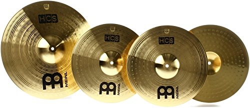 """Meinl Cymbal Set Box Pack with 14"""" Hihats, 18"""" Crash/Ride, Plus a FREE 14"""" Crash – HCS Traditional Finish Brass – Made In Germany, TWO-YEAR WARRANTY (HCS1418+14C)"""