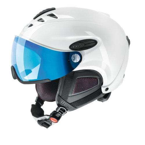 Uvex hlmt 300 Visor Style, Size:M-L (58-60cm);Color:White Shiny