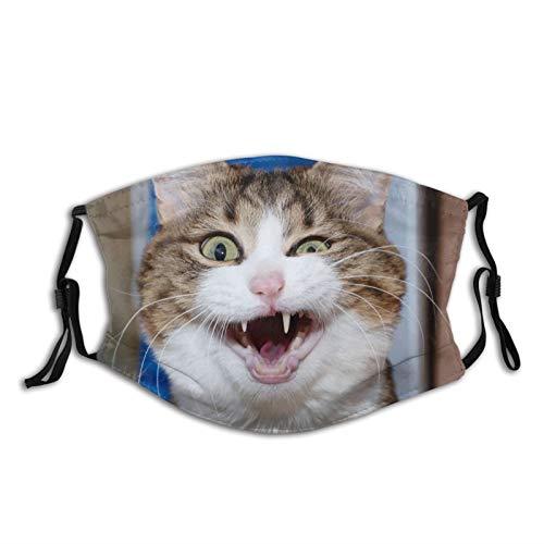 Modische und praktische winddichte Ohrringe mit Sonnenschutz, lustiges Katzen-Gesicht für Männer und Frauen, atmungsaktiv, Staub-Mundschutz
