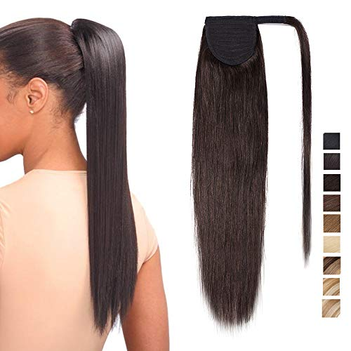 14 inch Wrap Around Ponytail Extension Human Hair 100% Real Remy One Piece...
