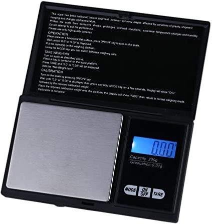 Promotech Mini balance de poche professionnelle 200 g/0,01 g pour cuisine, bijoux, maison, laboratoire.