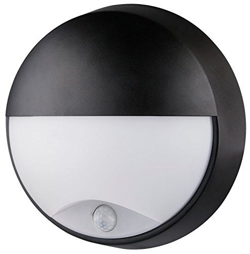 Oasi Sensor LED plafondlamp rond met ooglid - Zwart, 14