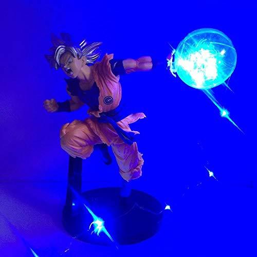 Yvonnezhang Dragon Ball Z Son Goku Pantalla DIY Luz Led Goku Kamehameha 1 Anime Dragon...