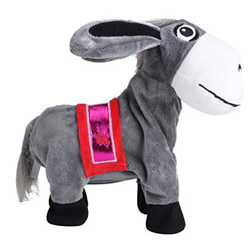 Ezel speelgoed Elektrisch speelgoed voor kinderen Intelligent schattig om de belangstelling van kinderen voor een geschenk te wekken(gray, Height 23CM)