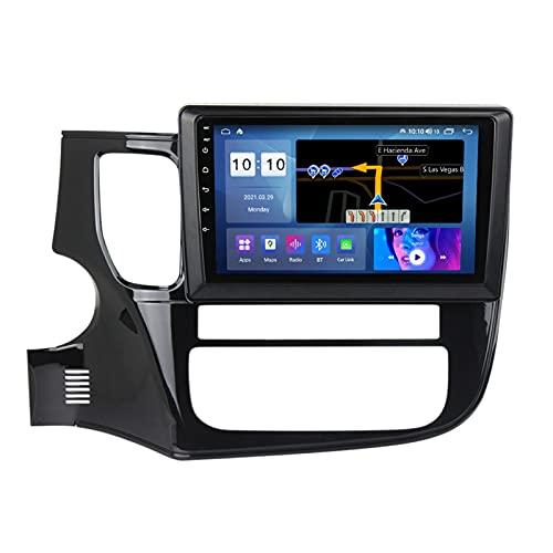 ADMLZQQ Android 10.0 In-Dash Car Stereo Radio Head Unit para Mitsubishi Outlander 2012-2018, Pantalla Táctil 9 Pulgadas, Carplay FM Am Bluetooth GPS DSP Cámara Trasera Ventilador,M200s 8core 2+32g