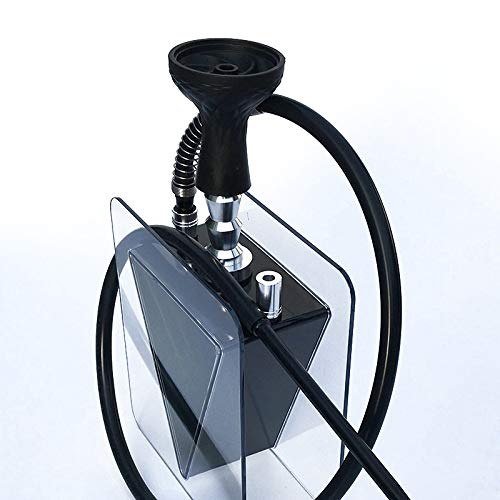 Angelay-Tian Shisha Hookah, Bong Pipe Water Bongs Conjunto de Productos terminados de cachimba, Producto Terminado de cachimba árabe Conjunto de cachimba de triángulo invertido acrílico (Color