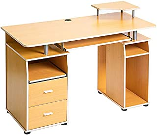 Essential Home Office Computer Desk with Pull-Out Keyboard Tray and Drawers