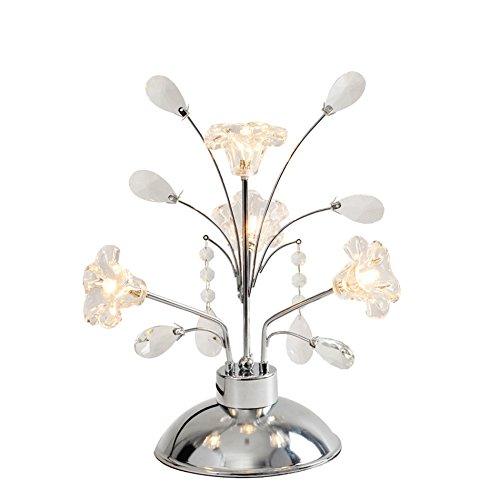ZWL Lampe de Table en Cristal, Lampe de Bureau Moderne en Cristal K9, Lampe de Table Simple 37cm Haute Lampe de Cristal Élégant, Lampes design pour la maison, la chambre à coucher, le salon, la salle à manger fashion.z ( taille : 37*18.5cm )