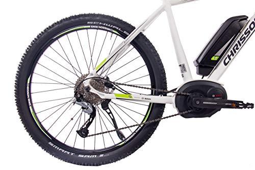41xwAZ HmIL - CHRISSON 27,5 Zoll E-Bike Mountainbike Bosch - E-Mounter 1.0 Weiss 52cm - Elektrofahrrad, Pedelec für Damen und Herren mit Bosch Motor Performance Line 250W, 63Nm - Intuvia Computer und 4 Fahrmodi