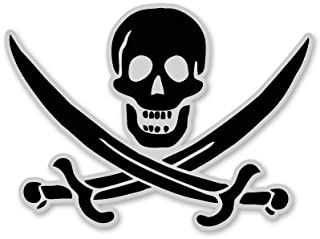 AK Wall Art Pirate Skull Flag Arrrggh Vinyl Sticker - Car Phone Helmet - Select Size