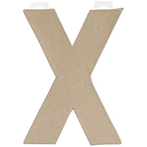 Darice 2862-X letter X van papier-maché, 20,3 cm