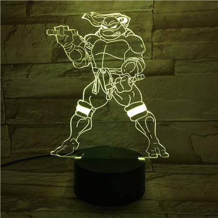 Teenage Mutant Ninja Turtles LED Veilleuse Capteur tactile de bande dessinée RVB Enfants Enfants Michelo Mike lampe de table de chevet
