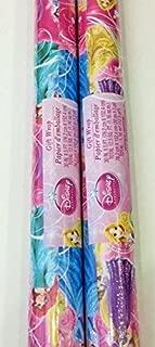 Licensed Children's Gift Wrap Paper (2 Rolls) (Princess)