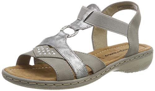Supremo Damen 6923401 Riemchensandalen, Grau (Grey 00011), 40 EU