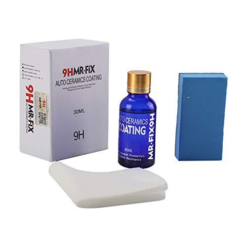 Bebliss - Chaqueta de cerámica líquida para coche con revestimiento de cristal hidrofóbico de 30 ml, 9H, antiarañazos
