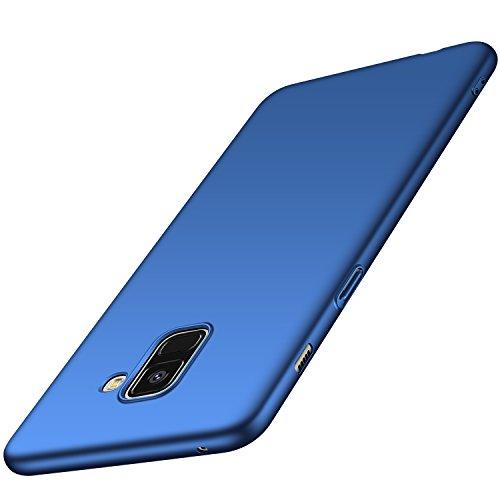 Anccer Funda Samsung Galaxy A8 2018 [Serie Colorida] [Ultra-Delgado] [Ligera] Anti-rasguños Estuche para Samsung Galaxy A8 2018 (Azul Liso)