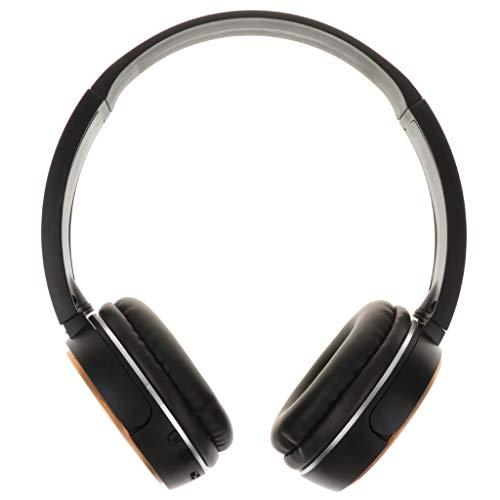 Almencla Cascos Bluetooth Inalámbrico de Diadema,Auriculares Cerrados con Micrófono,Audífono para Moviles, TV, PC con Bluetooth 5.0 para Deporte,Viaje - Dorado
