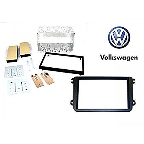 sound-way Kit montagea autoradio 2 DIN 2 ISO avec Entourage Cadre pour Volkswagen/Skoda