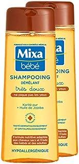 Mixa Bebe Shampooing demelant Tres Doux, Champú, Pack de 2 x 250 ml