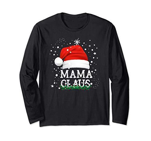 Mama Claus Pijama Familia Divertido Regalo Navidad Madres Manga Larga