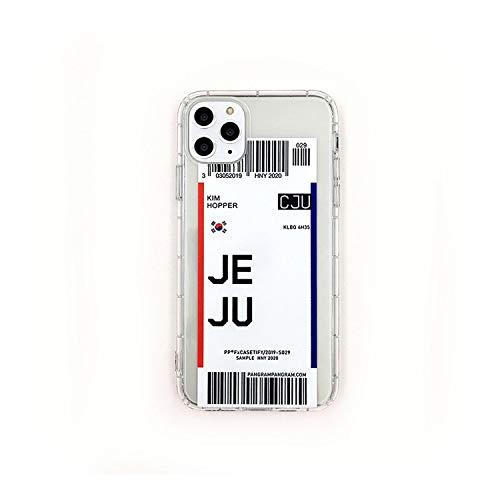 Viaje Airfare etiqueta teléfono caso caso para iPhone 11 Pro XS Max X XR 7 8 6 6s Plus ins ciudad letra de código de barras transparente suave cubierta