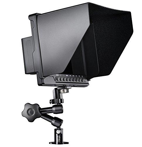 Walimex Pro Full HD Monitor Direktor III Set (1x Akku, 1x Gelenkarm (18 cm), 1x Gelenkarm Verdrehschutz, mit HDMI und AV Eingang) schwarz