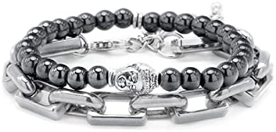Fengshui Prosperity Bracelet 12mm Natural Bead Bracelet Single Silver Pi Xiu/Pi Yao Attract Wealth Health and Good Luck