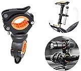 letuxiashop FahrradzubehöR, Fahrradlicht Halterung, Um 360 ° Drehbare Lichthalterung - Universelle Lenker Clip-Installation. Led Taschenlampenclip, Lenkerclip.