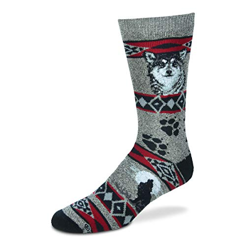For Bare Feet Women's FBF Originals Wildlife Novelty Socks, Wolf Blanket, Medium