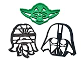 Star Wars Darth Vader, Yoda and Chewbacca Faces/Heads Cookie Cutters (3 Pack)