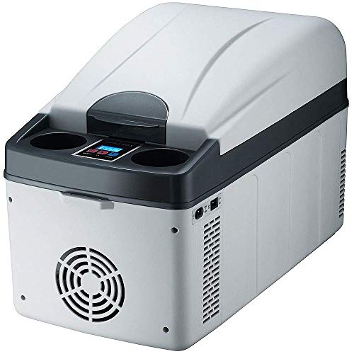 LYJ Mini portátil compacto Personal Frigorífico, Cools y se calienta, de 20 litros de capacidad, 100% Freón-Free & Eco Friendly, Incluye enchufes for refrigerador Inicio Outlet & 12V del coche cargado