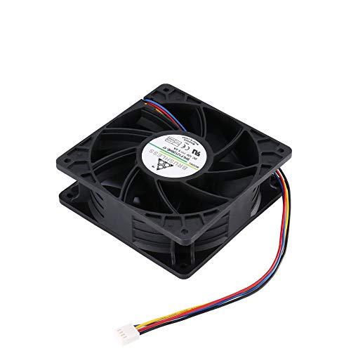QiKun-Home Ventilador de enfriamiento minero de 7500RPM DC12V 5.0A para Antminer Bitmain S7 S9, Conector de 4 Pines, Enfriador de Repuesto sin escobillas, bajo Ruido, Negro