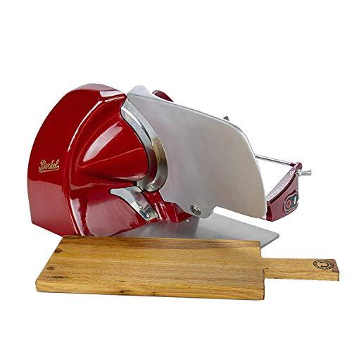 Palatina Werkstatt ® Berkel - Elektrische Aufschnittmaschine Home Line 250 - Rot, neues Modell 2021 + Servierbrett aus alten Weinfässern VK: 799,- €