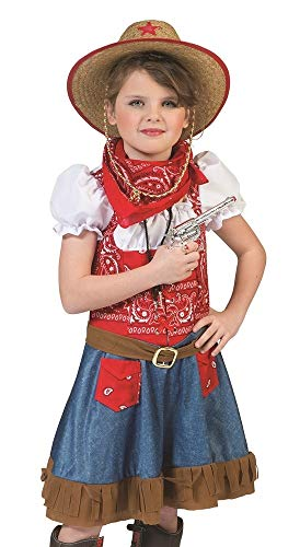 Disfraz de chica vaquera de Arizona, del lejano Oeste para niñas multicolor 128