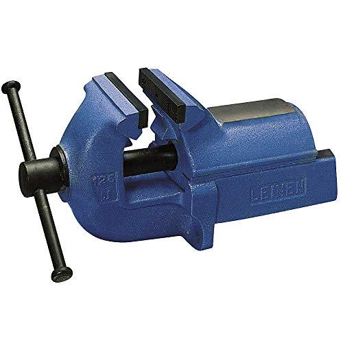 Parallel-Schraubstock LEINEN JUNIOR Vollgrauguss blau, Backenbreite 125 mm